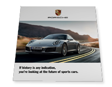 endless folding card logoloop® for Porsche